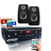 Kit Som Ambiente Pro Home 120w + 2 Caixas De Parede Pretas - ORION