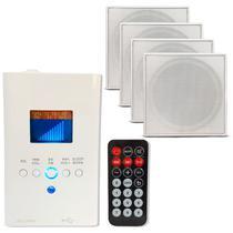 Kit Som Ambiente Wall Player Usb Bluetooth + 4 Caixa Embutir - ORION