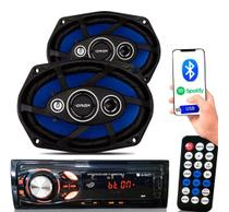 Kit Som Auto Radio Mp3 Bluetooth Aux + Falante 6x9 Pol Orion - Etech Imports