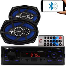Kit Som Auto Radio Mp3 Bluetooth Aux + Falante 6x9 Pol Orion - Fistoption