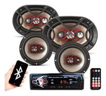 Kit Som Automotivo Bluetooth Auto Falante Bravox 6 + 6x9 - Oestesom