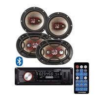 Kit Som Automotivo Bluetooth Bravox 2 Pares Auto Falante 6 e 6x9