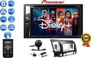 Kit Som Automotivo Pioneer Multimidia C/ Controle Bluetooth CD DVD USB  + Câmera Moldura Civic 07/11 -