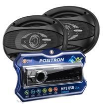 Kit Som Automotivo Positron SP2210 + Par Alto Falante Pósitron APQ6940 -