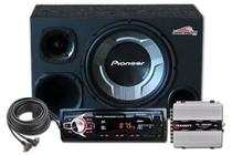 Kit Som Automotivo Radio Bluetooth Caixa Opala Trio - Oestesom