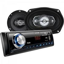 Kit Som Automotivo Radio MP3 + 2 ALTO Falantes 6