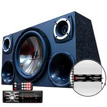 Kit Som Caixa Trio Sub Hurricane Aparelho Bluetooth Taramps - OESTESOM