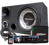 Kit Som Caixa Trio Sub Pioneer Aparelho Bluetooth Sd-400 -