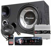 Kit Som Caixa Trio Sub Pioneer Aparelho Bluetooth Taramps -