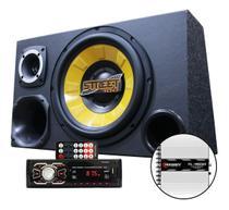 Kit Som Caixa Trio Sub Spyder 700w Aparelho Bluetooth Tl1500 - Oestesom