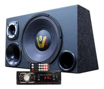 Kit Som Caixa Trio Woofer Compet Radio Aparelho Bluetooth - Oestesom