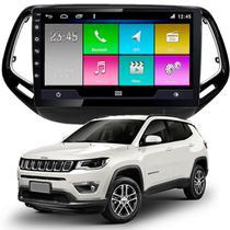 Kit Som Multimídia Jeep Compass 2017 2018 2019 2020 Tela 10 Polegadas Gps Câmera Bluetooth Espelhamento IOS Android - Aikon