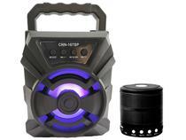Kit Som Portátil Livstar e Mini Caixinha de Som Bluetooth Pequena Potente Fm Aux -