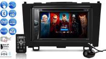 Kit Som Pra Carro Multimidia Pioneer C/ Controle, Dvd Cd Usb Bluetooth + Câmera Ré Moldura Crv 08/11 -