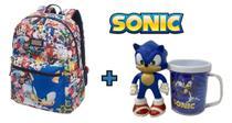 Kit Sonic the Hedgehog Mochila Modern + Caneca e Boneco - Pacific