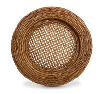 KIT Sousplat redondo em rattan natural BAHAY  -  32cm - 4 peças - Bahay Brasil