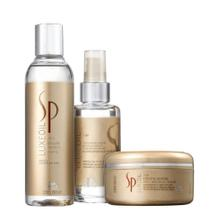 Kit Sp System Professional Luxe Oil Keratin  Shampoo 200ml + Máscara  100ml + Óleo 150ml - Wella