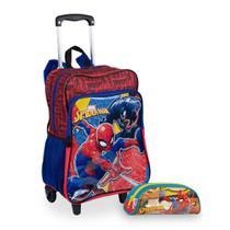 Kit Spiderman 19M Plus - Mochilete + Estojo - Sestini