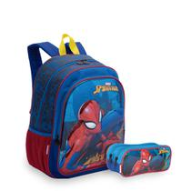 Kit Spiderman 19X - Mochila + Estojo - Sestini