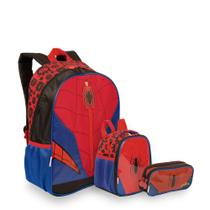Kit Spiderman 19Y - Mochila + Lancheira + Estojo - Sestini