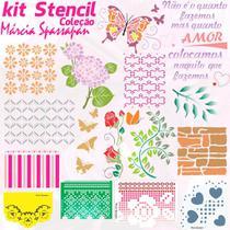 Kit Stencil Coleção Márcia Spassapan  Edição 1 -