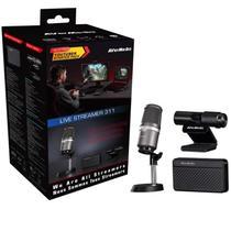 Kit Streamer Avermidia, BO311, Microfone/Webcam/Placa de Captura - Avermedia