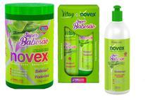 Kit Super Babosão Novex Embelleze  Shampoo Condicionador Creme de pentear e  Mascara 1kg -