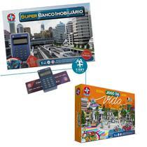 Kit Super Banco Imobiliário + Jogo da Vida com aplicativo - Estrela