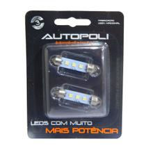 Kit Super Led Autopoli Smd Torpedo 42mm 12V 3 LEDS BRANCO 6000K -