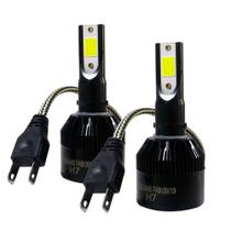 KIT SUPER LED FAROL H7 CODE 6000K - 37W / BIVOLT / 7800 LÚMENS O PAR / CHIP LED COB C/ ILUMINAÇÃO 360º - TECHONE Z-0597 -