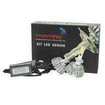 Kit Super LED Lâmpadas H1 com Luz Branca 6000K com Efeito Xenon - ImportWay -