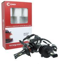 Kit super led plus (h4) - cinoy - 6500k / 4400lm (12v/24v) -