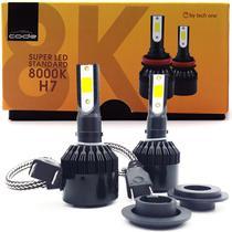 Kit Super Led Techone 8000k 12v Encaixe H7 3000 Lúmens - Tech One