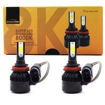 Kit Super Led Techone 8000k 12v Encaixe H8 H9 H11 3000 Lm - Tech One