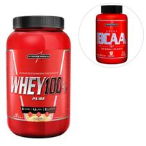 Kit Super Whey 100% Pure 907g + BCAA Top Body Size  Integralmédica -