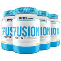 Kit Super Whey Protein: 4x Fusion Protein Foods 900g Baunilha  BRNFOODS - BRN Foods