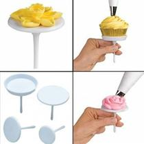 Kit Suporte Base Para Decorar Cupcake / Flores - L&B Decorações
