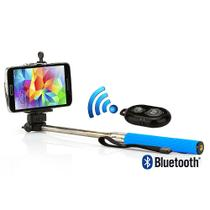 Kit Suporte para Selfie, Monopod + Controle Shutter Bluetooth, Azul - Outras