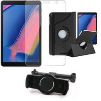 Kit Suporte Tablet Carro Galaxy Tab A S Pen 8.0' P205/P200 + Película Vidro +Capa Girat - Armyshield -