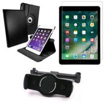 Kit Suporte Tablet Carro iPad Air 2019 10.5 + Película Vidro +Capa Giratória - Armyshield -
