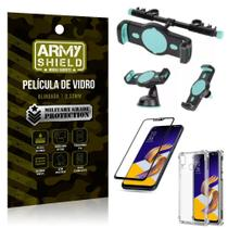 Kit Suporte Veicular 3 em 1 Zenfone 5Z ZS620KL + Película 3D + Capa Anti Impacto - Armyshield -
