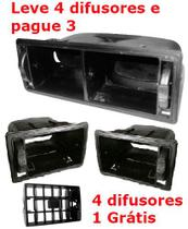 Kit Suportes+4 Difusor Ar Gol Voyage Parati Saveiro Quadrado - Autoplast