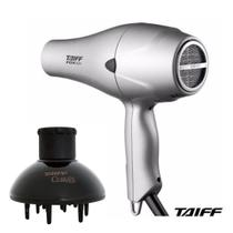 Kit taiff secador profissional fox ion prata 2000w - 220v + difusor curves -