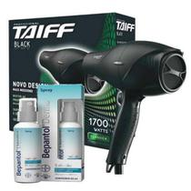 Kit taiff secador profissional new black 1900w - 127v + bepantol derma spray 50ml