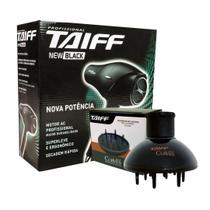 Kit taiff secador profissional new black 1900w - 127v + difusor curves -
