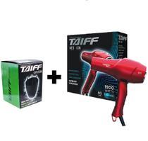 Kit taiff secador profissional red ion 1900w - 127v + difusor novo -