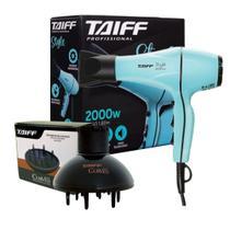 Kit taiff secador profissional style 2000w tiffany - 220v + difusor curves -