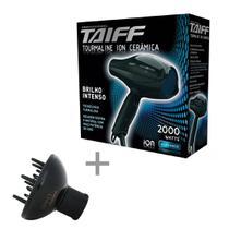 Kit taiff secador profissional tourmaline 2000w - 220v + difusor curves -