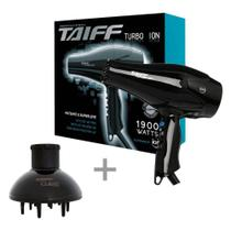 Kit taiff secador profissional turbo ion 1900w - 127v + difusor curves -