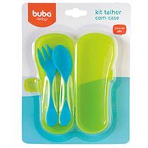 Kit Talheres Azul com Case - Buba Baby -
